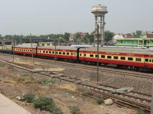 regionale trein in Delhi