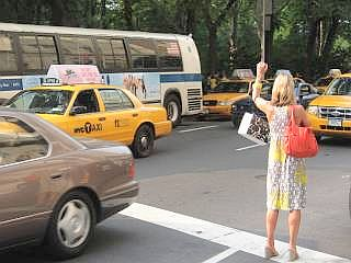 taxi in Manhattan