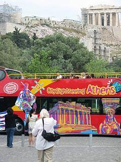 toeristenbus in Athene