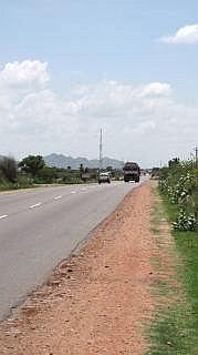 weg tussen Jaipur en Jodhpur