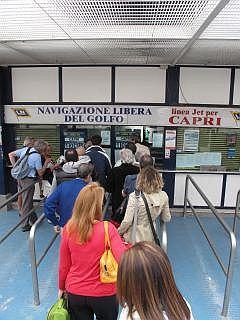 kaartjes voor de veerboot naar Capri