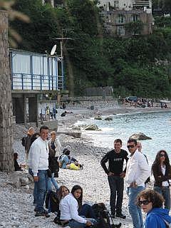 Het strand van Capri