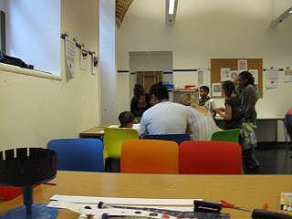 Een workshop voor kinderen in Londen