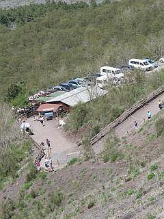 parkeerplaats bij de top ban de Vesuvius
