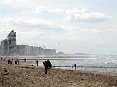 het strand van Oostende