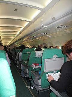 Vlucht van Alitalia naar Rome