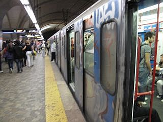 Metro op Rome Termini Station