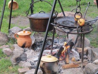 koken in de openlucht