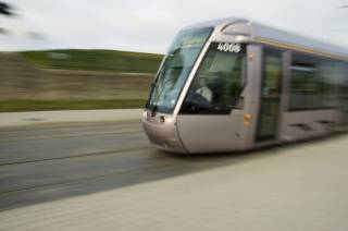 Luas of tram in Dublin