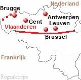 Kaart van Vlaanderen