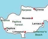 Kaart van Cyprus