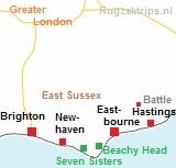kaart van East Sussex
