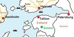 De veerboten op de Oostzee