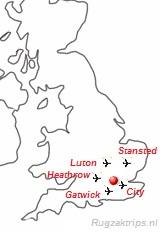 plattegrond met vliegvelden
