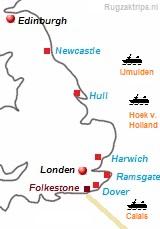 kaart van Groot Brittannië
