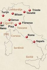 kaart van Italie