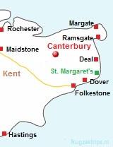 kaart van Kent