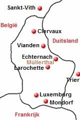 plattegrond van Luxemburg