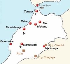 kaart van Marokko