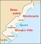 Kaart van Monaco