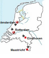 vliegvelden in Nederland