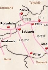 plattegrond van Oostenrijk