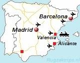 Kaart van Spanje