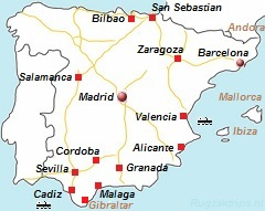 Malaga Sevilla Granada En Almeria Vliegvelden Autoverhuur En