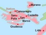 kaart van Venetie