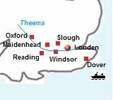kaart van Theems Path