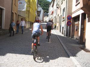 Fietsen bij Vianden in Luxemburg
