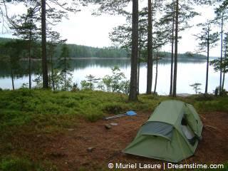 vrij kamperen in Zweden