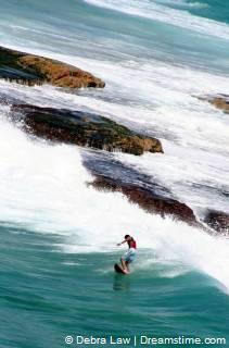 vlakbij Bondi Beach, Sydney, Australia op Tamarama Beach