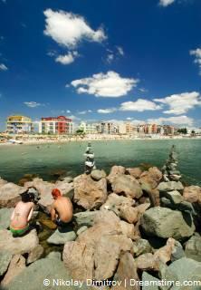 strand bij Ravda in Bulgarije