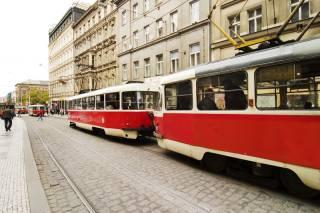TRAMS in Praag
