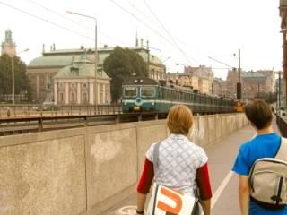 Regionale trein in Stockholm